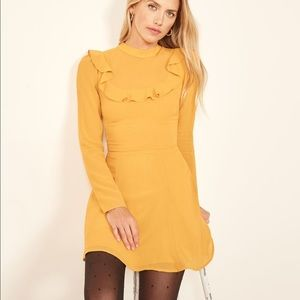 Reformation Spark Dress in Yellow